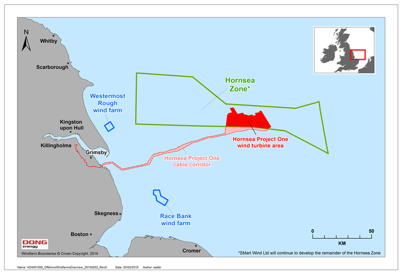 UK: DONG Energy acquires the Hornsea Zone and the project ... Hornsea Project One