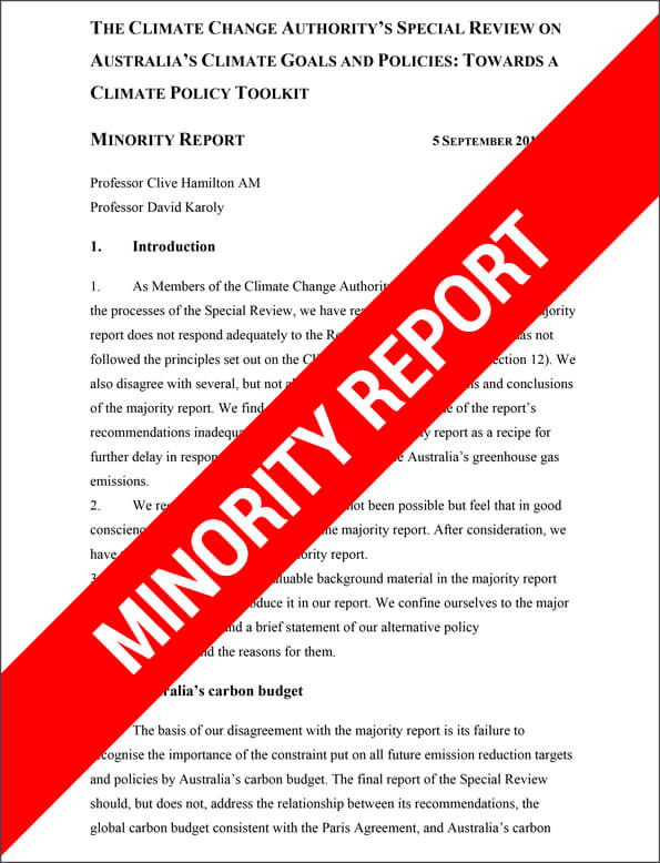 a review of the minority report In a combined analysis, we investigate how the movie minority report can inform  and nuance the vision of  suffolk university law review 42(4):795-807.