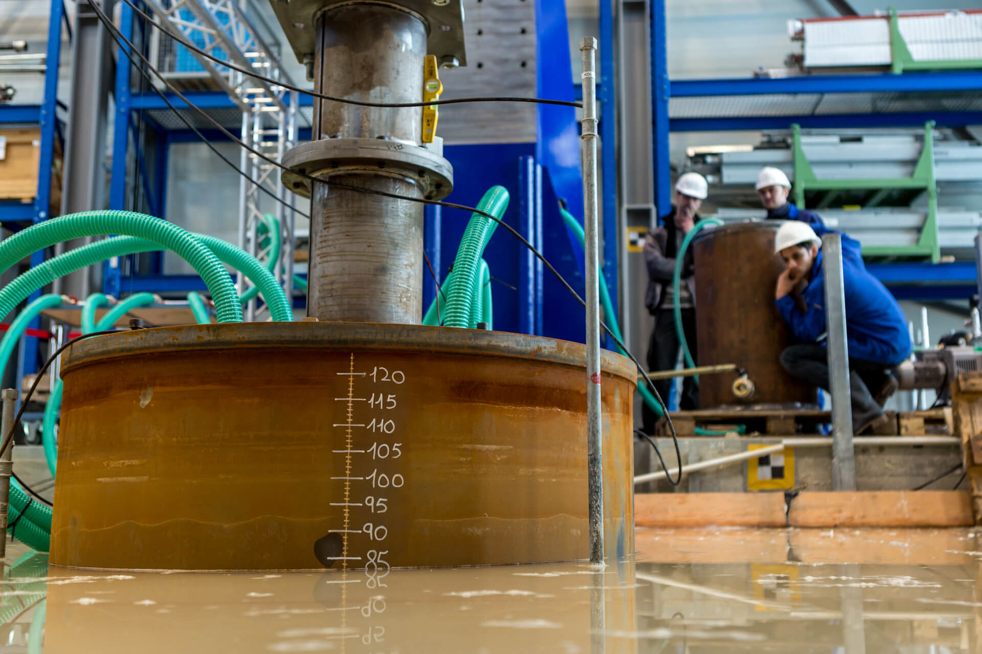 Suction Offshore Wind Turbine Foundation : Iwes tests suction bucket foundations windfair